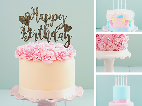 Happy Birthday Card Cake Topper FONT 4