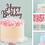 Thumbnail: Happy Birthday Card Cake Topper FONT 1