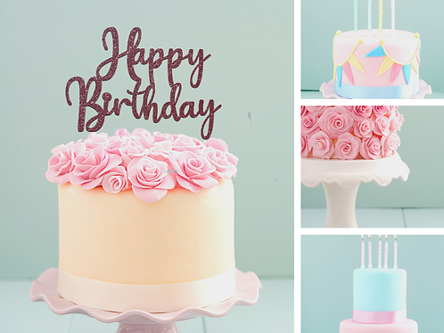 Happy Birthday Card Cake Topper FONT 1