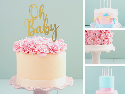 'Oh Baby' Card Cake Topper