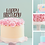 Thumbnail: Happy Birthday Card Cake Topper FONT 5