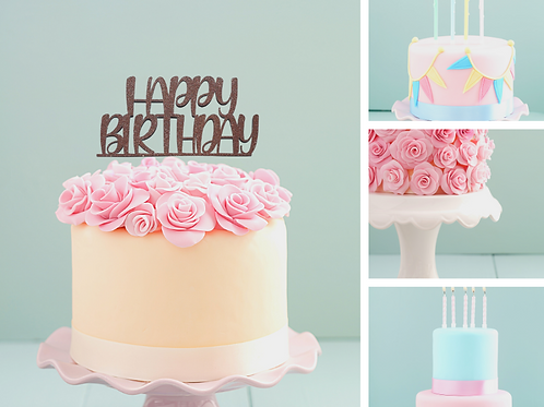 Happy Birthday Card Cake Topper FONT 5