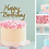 Thumbnail: Happy Birthday Card Cake Topper FONT 6