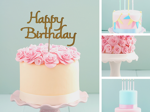 Happy Birthday Card Cake Topper FONT 6