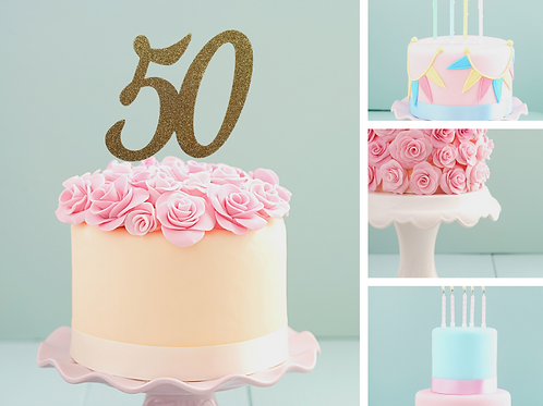 Double Digit Number Cake Topper SALE 250gsm