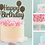 Thumbnail: Happy Birthday Card Cake Topper FONT 2a