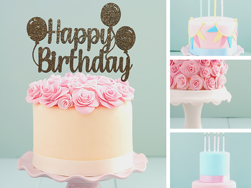Happy Birthday Card Cake Topper FONT 2a