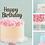 Thumbnail: Happy Birthday Card Cake Topper FONT 2