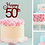 Thumbnail: Happy 50th Card Topper SALE 250gsm