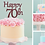 Thumbnail: Happy Birthday AGE Card Cake Topper FONT 1