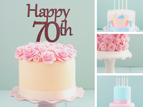 Happy Birthday AGE Card Cake Topper FONT 1
