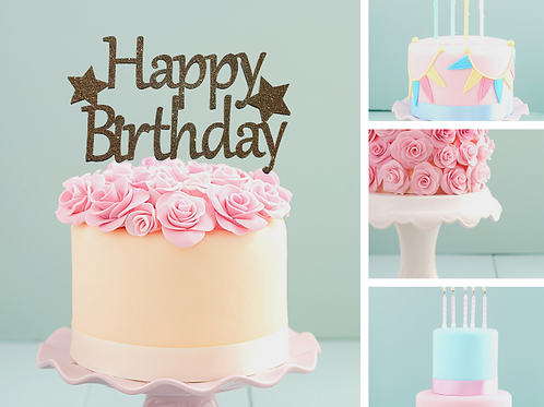 Happy Birthday Card Cake Topper FONT 3