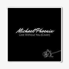 lost without you (cover) die cut sticker michael phoenix