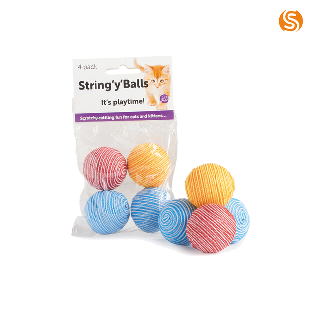 String 'Y' Balls Cat Toy