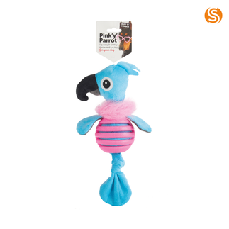 Pink 'Y' Parrot Dog Toy