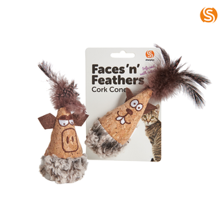 Face 'n' Feathers Cork Cone
