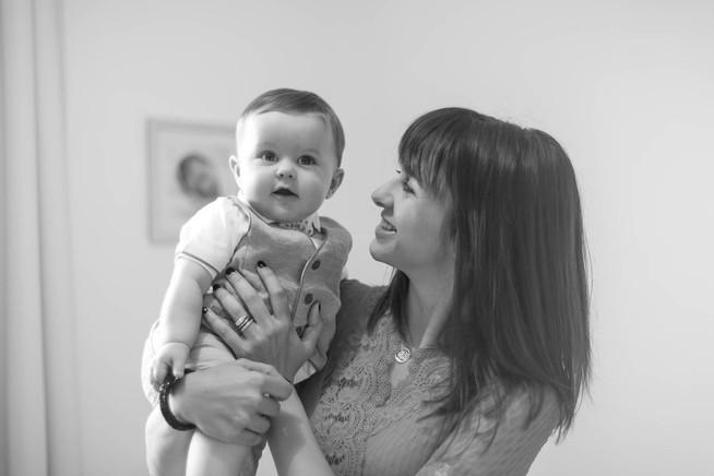 Maman et bébé Happy moment