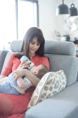 moment calin avec bébé
