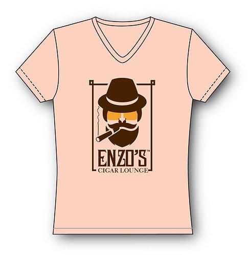 Enzo Pink V-Neck