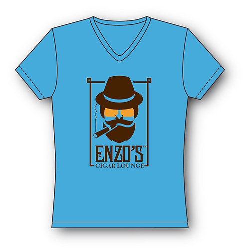Enzo Blue V-Neck