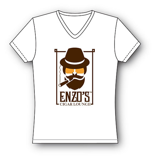 Enzo White V-Neck