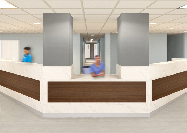 Selected Nurse Station Concept Rendering