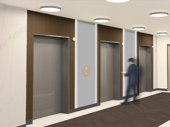 Elevator Lobby Concept Rendering