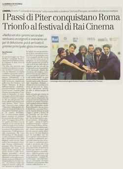 Articolo Giornale di Vicenza-Vincita