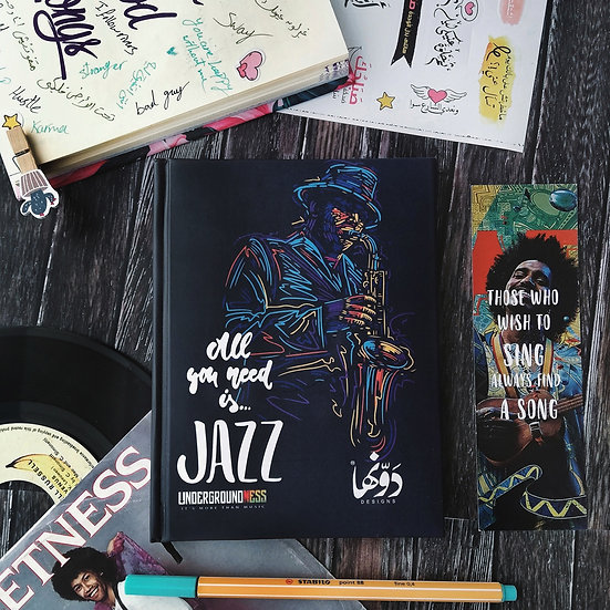 Jazz Notebook+ Stickers Sheets