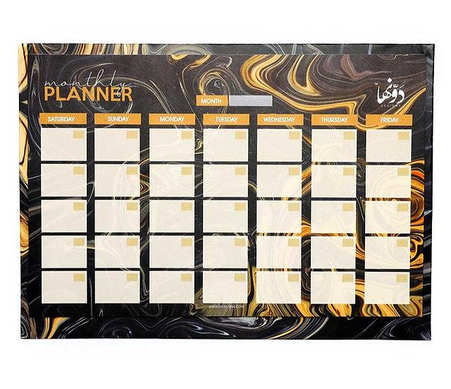 Black Marble Desk Calendar