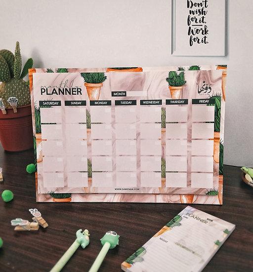 Cactus Desk Calendar + Daily Planner