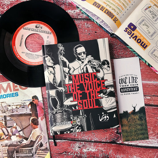 """Music """"Voice of soul"""" Notebook+Sticker sheets"""