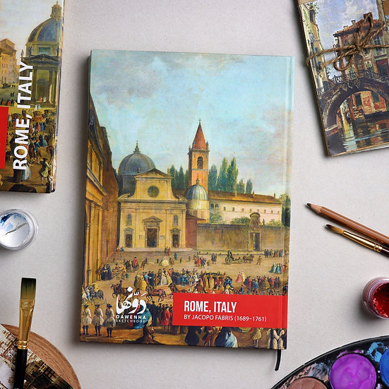 Rome, Italy Sketchbook + Coloring book