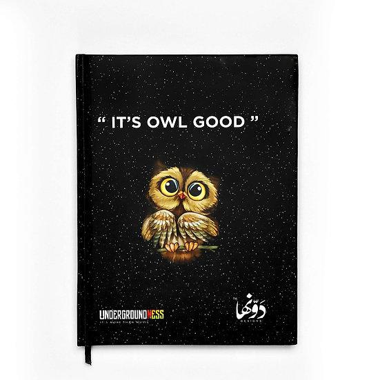 It's Owl Good Notebook+Sticker sheets