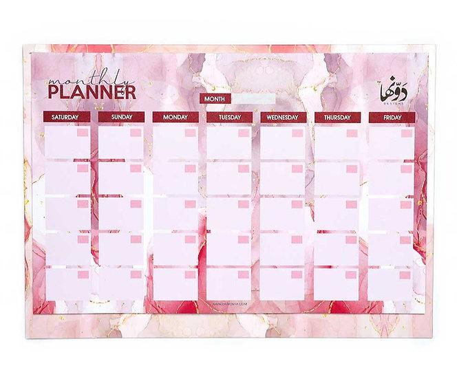 Pink Marble Desk Calendar