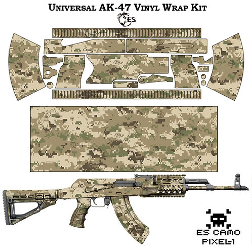 Камуфляжная пленка для оружия АК серии Pixel