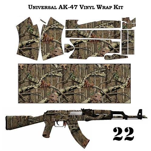 Камуфляжная пленка для оружия АК серии лес