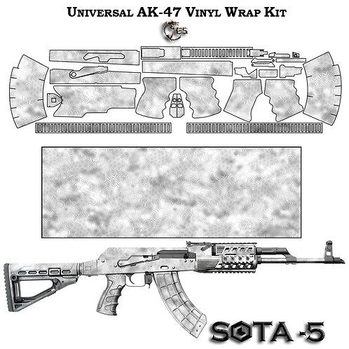 Камуфляжная пленка для оружия АК серии зима
