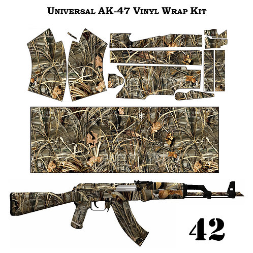 Камуфляжная пленка для оружия АК серии поля и болото
