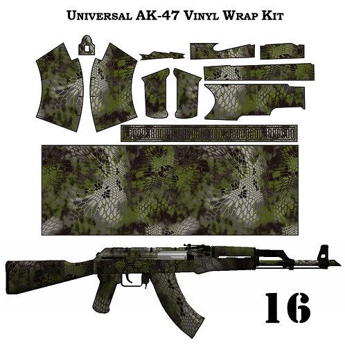 Камуфляжная пленка для оружия АК серии ТАКТИЧЕСКИЙ-2