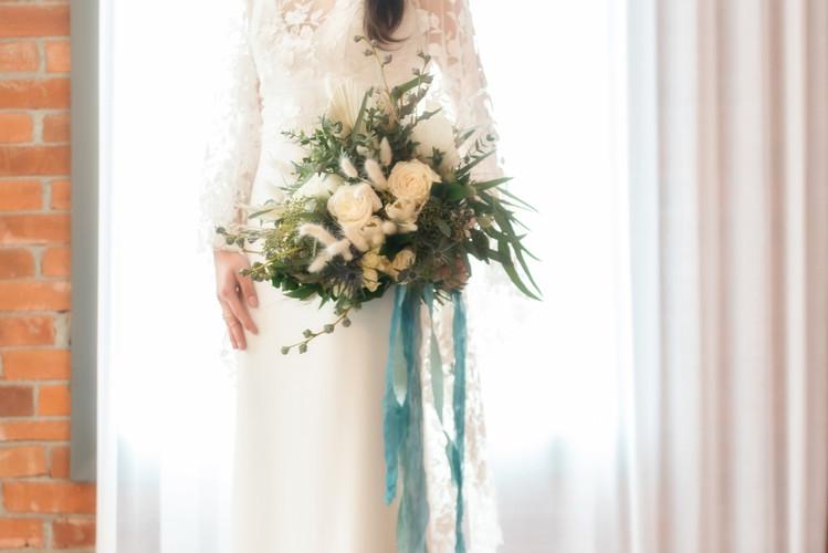 Stunning Boho Wedding Bouquet by Creative Edge Flowers