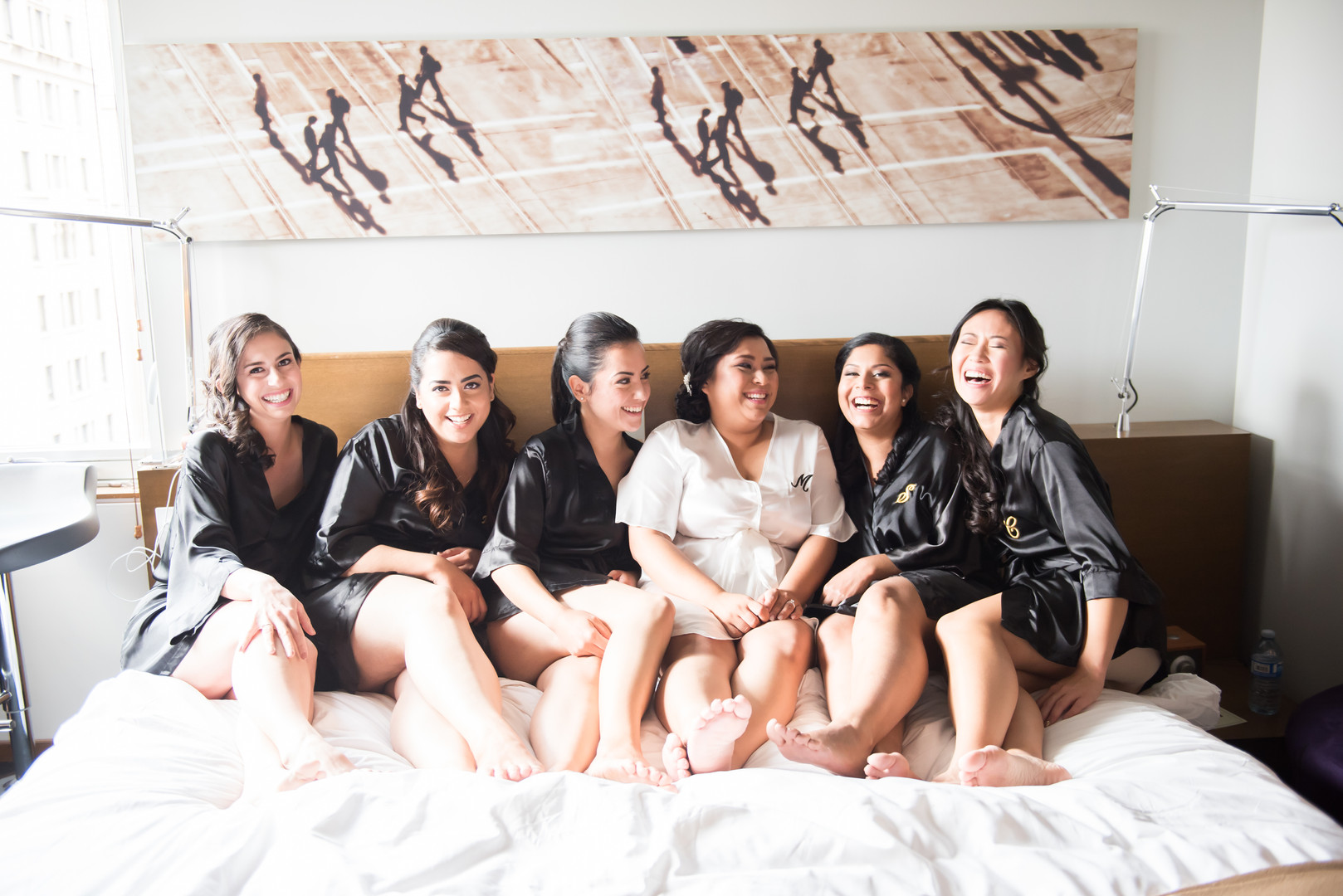 When you have this much fun with your bridesmaids, you are one lucky lady!