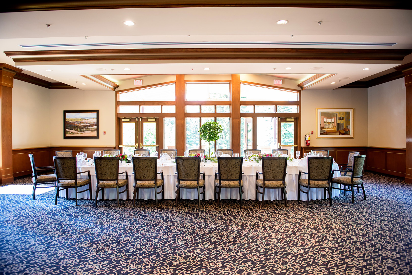 Calgary Golf and Country club set up for an elopement party
