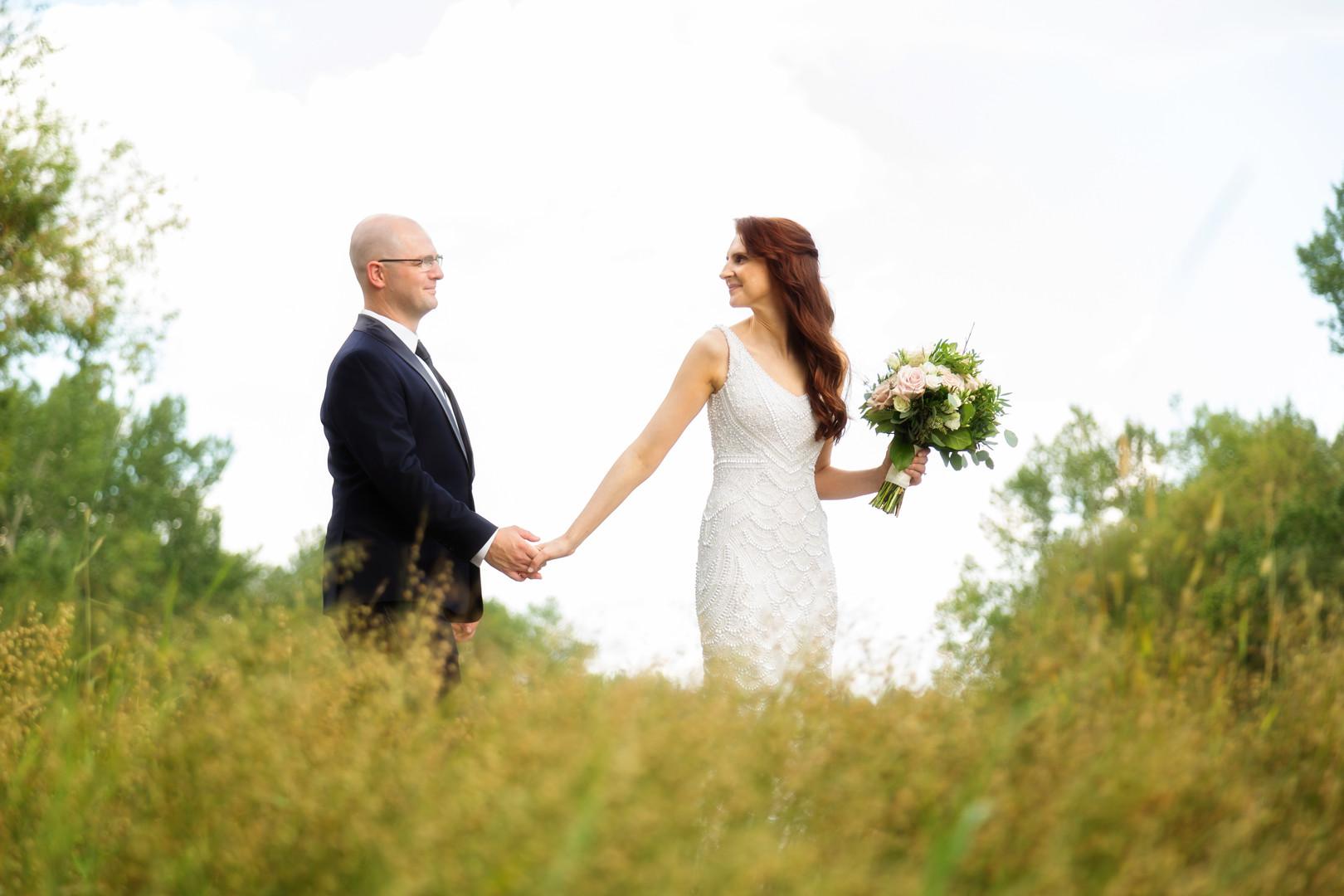 A little wedding stroll in Price's Island park, Calgary