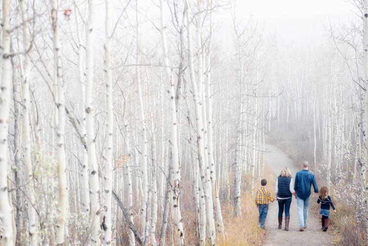 Family Portait in the fog at Glenmore Prov. Park