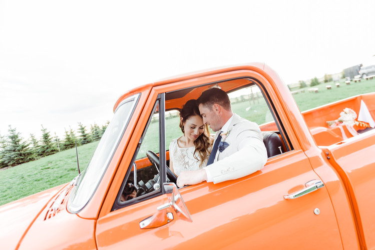 Country wedding in a sophisticated style