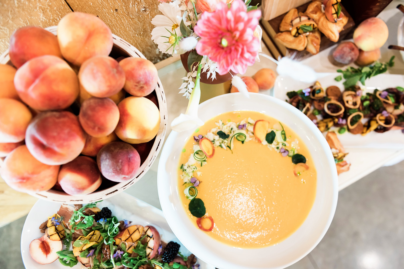 Fork and Farm buffet for Just Peachy