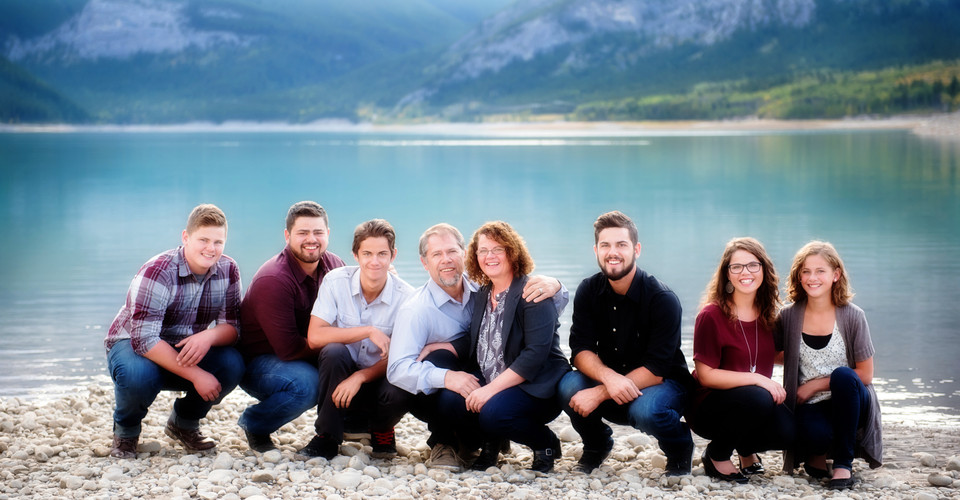 Big and Beautiful family at Barrier Lake, AB