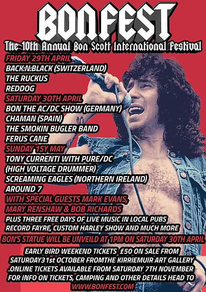 AC/DC's singer Bon Scott Statue & Chaman