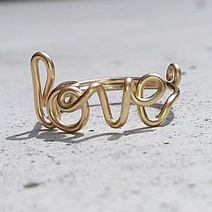 love ring, kizzu schmuck, goldring, hand